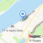 Волга-стрит на карте Астрахани