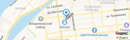 Атлант на карте Астрахани