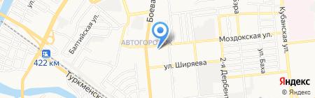 Астраханское цифровое телевидение на карте Астрахани