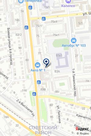 АВТОПРЕСТИЖ на карте Астрахани
