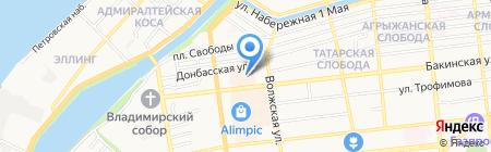 Магазин детских товаров на карте Астрахани