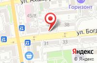 Схема проезда до компании Все для обуви в Астрахани