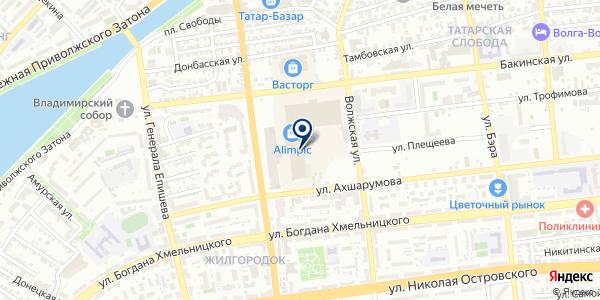 Chicco на карте Астрахани