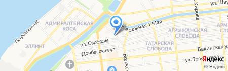 Ариша на карте Астрахани