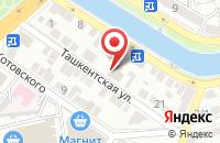 Схема проезда до компании Hi-tech в Астрахани
