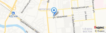 Алиса на карте Астрахани
