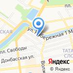 Церковь Христа Спасителя на карте Астрахани