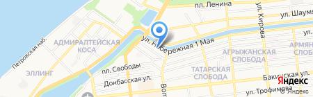 Газприбор на карте Астрахани
