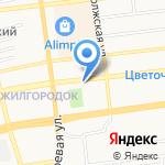 Строитель на карте Астрахани