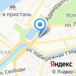 Велла на карте Астрахани