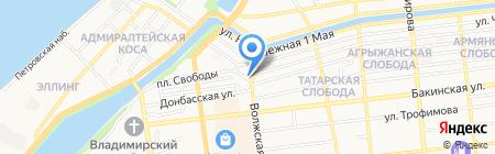 Татарский деловой центр на карте Астрахани