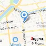 Русский лён на карте Астрахани