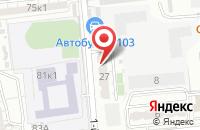 Схема проезда до компании Таманский в Астрахани