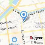 Детский сад №93 на карте Астрахани