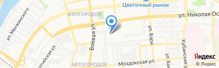 Средняя общеобразовательная школа №1 на карте Астрахани