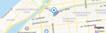 СССР на карте Астрахани