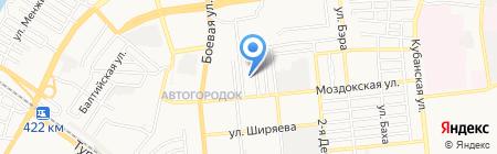 Дама Треф на карте Астрахани