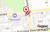 Схема проезда до компании Великая Стена в Астрахани