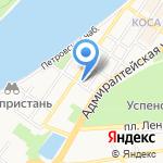 Трапеза на карте Астрахани
