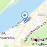 Кристина на карте Астрахани
