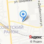 Угловой на карте Астрахани