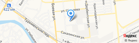 Сталивар-ОВ на карте Астрахани