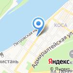 Сова на карте Астрахани