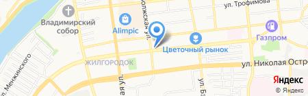CDEK на карте Астрахани