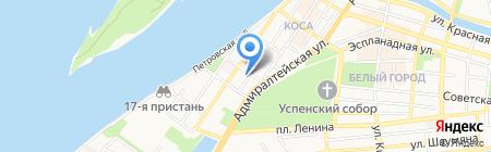 МорСнабСервис на карте Астрахани