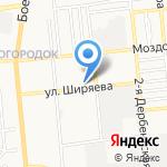 Центр автозапчастей для УАЗ на карте Астрахани