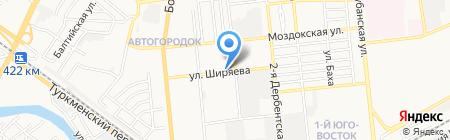 Автосервис на ул. Ширяева на карте Астрахани