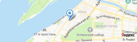 Землеустройство на карте Астрахани