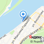 Акватория на карте Астрахани