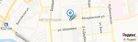 Морена на карте Астрахани