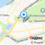 Амфибия на карте Астрахани