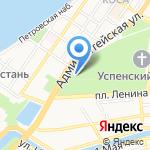 Цейхгауз на карте Астрахани