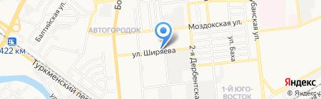 Адвокат Моисеев А.В. на карте Астрахани