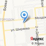 Арго на карте Астрахани