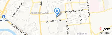 Юниплат на карте Астрахани