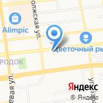 Карась на карте Астрахани