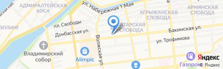 Автодозор Астрахань на карте Астрахани