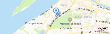 Блинная у кремля на карте Астрахани