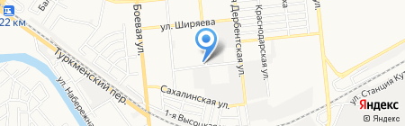 Автосила на карте Астрахани