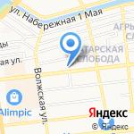 Проспект на карте Астрахани