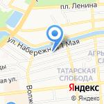 Арта на карте Астрахани