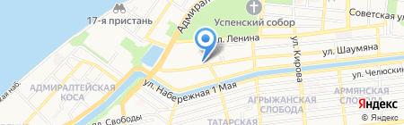 La Rossа на карте Астрахани