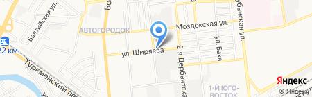 Русский Холод на карте Астрахани