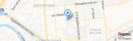Столовая №100 на карте Астрахани