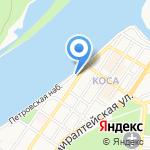 У переправы на карте Астрахани