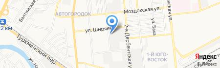 ЮСИ на карте Астрахани